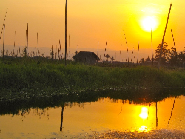 Sunset on Inle Lake #4